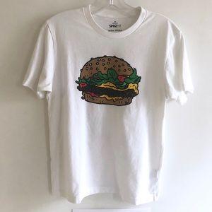 Hamburger tshirt by Jason Polan unisex